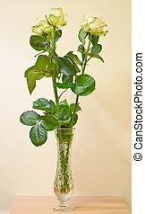 ramo, rosas, fresco