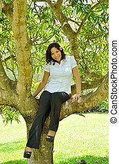 ramo, sentando