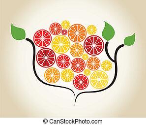 ramo, um, laranja