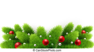 ramos, árvore inverno, isolado, experiência., white., feriado, borda, natal