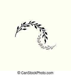 ramos, -, close-up, dois, castings, vegetação