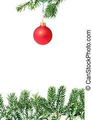 ramos, com, um, natal, brinquedo