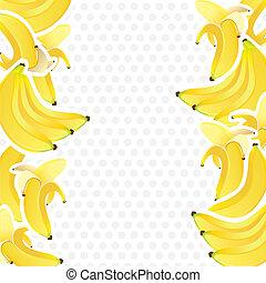 ramos, plano de fondo, plátanos