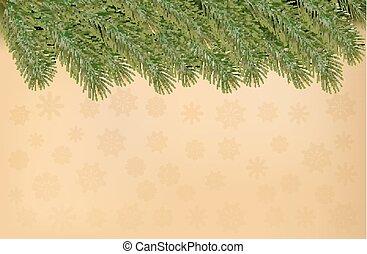 ramos, vecto, fundo, antigas, árvore natal, paper.