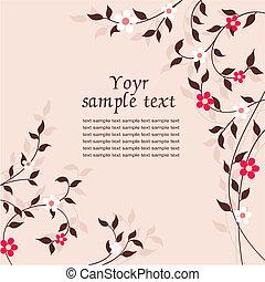 ramoscello, fiore, scheda
