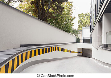 Ramp to building