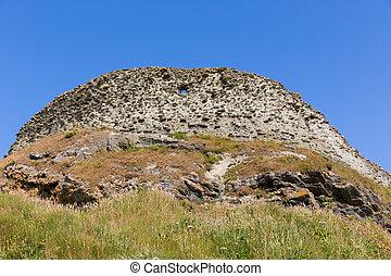 Ramparts at Tintagel Castle