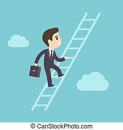 rampicante, scala, corporativo