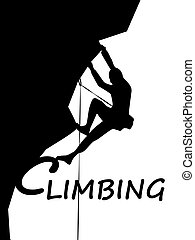 rampicante, sport, montanaro, logotipo