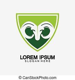 Rams goat head logo icon design vector illustration