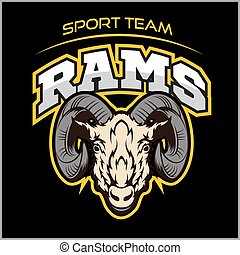 Rams logo for a sport team