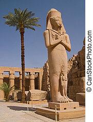 Ramses II statue - Statue of Ramses II in Karnak temple in...
