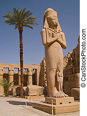 Statue of Ramses II in Karnak temple in Luxor, Egypt.