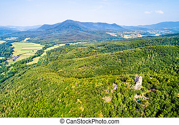 Ramstein castle in the Vosges Mountains, France