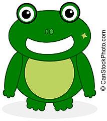 rana verde, faccia
