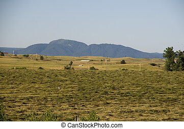 Ranch Land in South Dakota with the Black Hills in the Background.