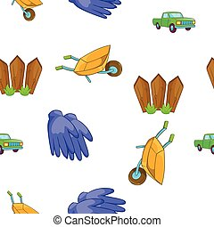 Ranch pattern, cartoon style