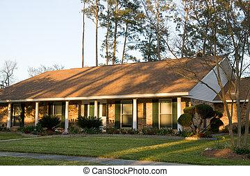 Estilo modernos casa fazenda grande tijolo bonito for Grande casa ranch