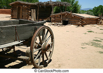 Ranch - Vintage buckboard and outbuildings of centuries old...