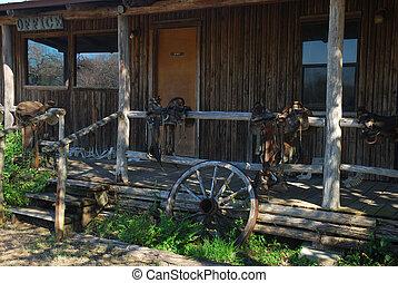 rancho, oficina, tejas