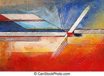 rand, van, abstractie, reeks, #11