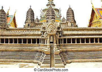 rand, vecchio, palazzo, bangkok, tailandia, modello, tempio