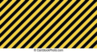 randig, varning, bakgrund, rektangulär