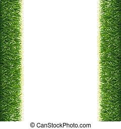 randjes, gras, witte achtergrond