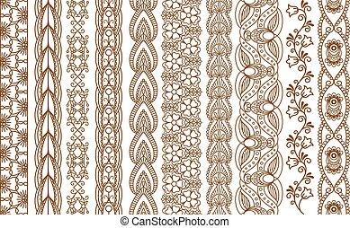 randjes, indiër, henna, seamless