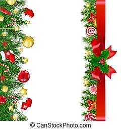 randjes, kerstmis, lint