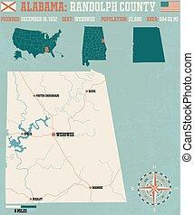 Randolph County in Alabama USA