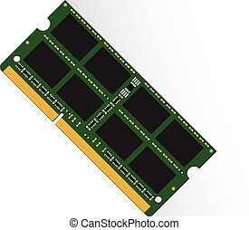 Random Access Memory concept by RAM labtop 4GB or 8GB or 16GB