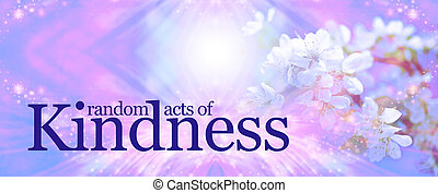 Random Acts of Kindness background - a pink and blue sparkly...
