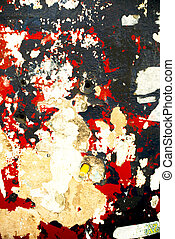 Random background collage texture paint on wall