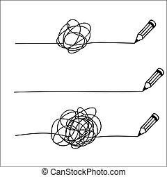Random chaotic line. - Set of random chaotic line drawn in ...