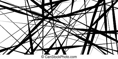 Random chaotic lines abstract geometric pattern / texture....