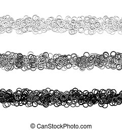 Random circle pattern line text separator design set from rings - vector graphic elements