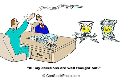 Random Decision Process - Business cartoon about an...