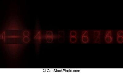 Random electronic numbers flashing in a seamless loop