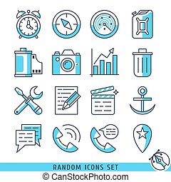 Random icons set vector illustration