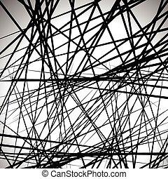 Random lines abstract background. Modern, minimal (...