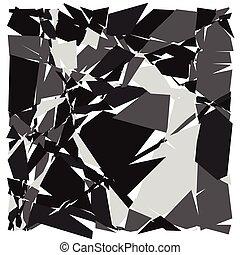 Random mosaic. Irregular cobblestone geometric pattern....