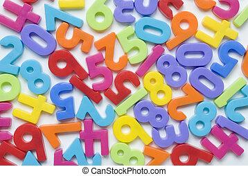 Random numbers - Childrens brightly coloured number fridge...