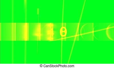 Random numbers on green screen