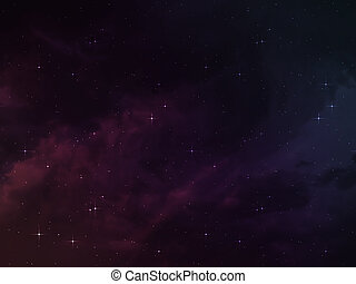 Random Universe - Background of random space with purple...