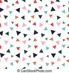 randomly, modello, colorato, triangoli, seamless