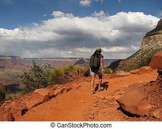 randonnée, canyon, jour, grandiose