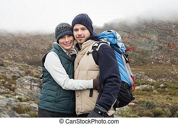 randonnée, couple, crise