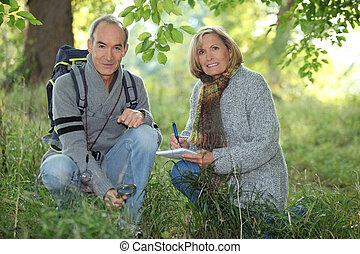 randonnée, couples aînés