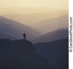 randonneur, sommet montagne